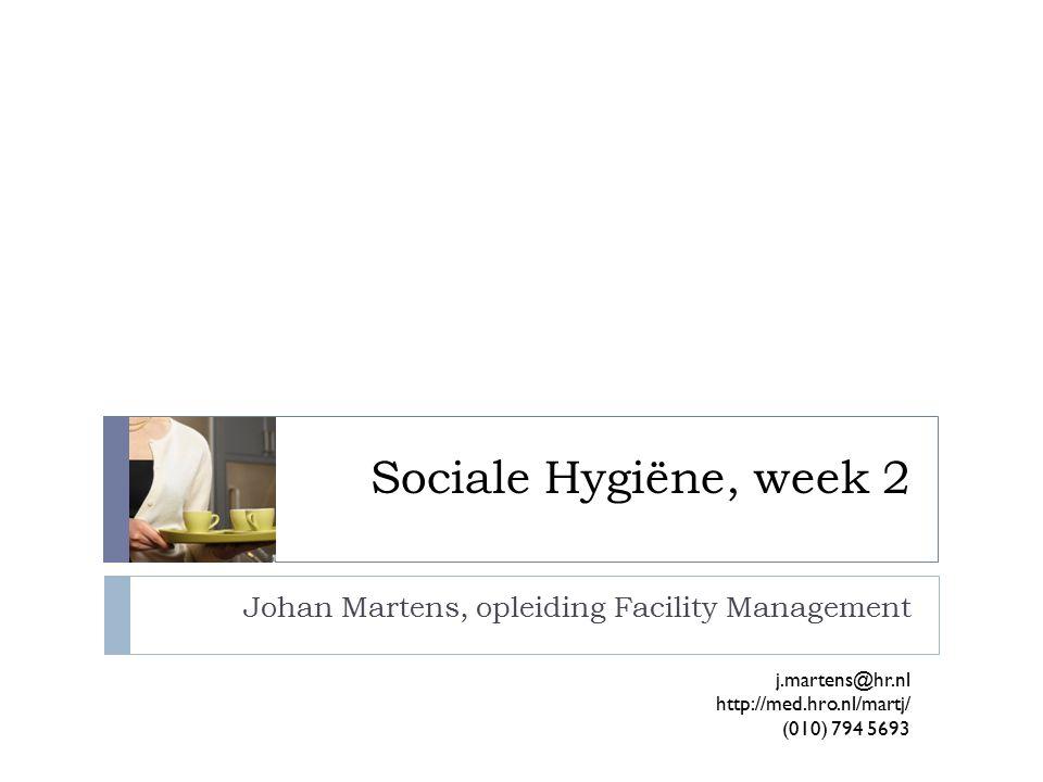 Johan Martens, opleiding Facility Management