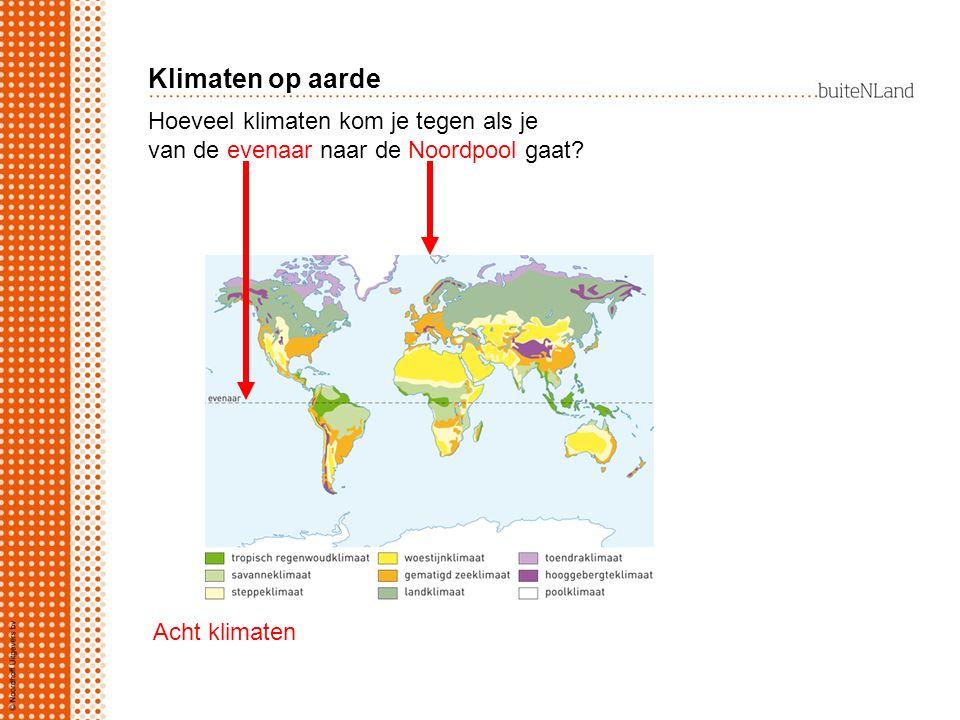 Klimaten op aarde Hoeveel klimaten kom je tegen als je