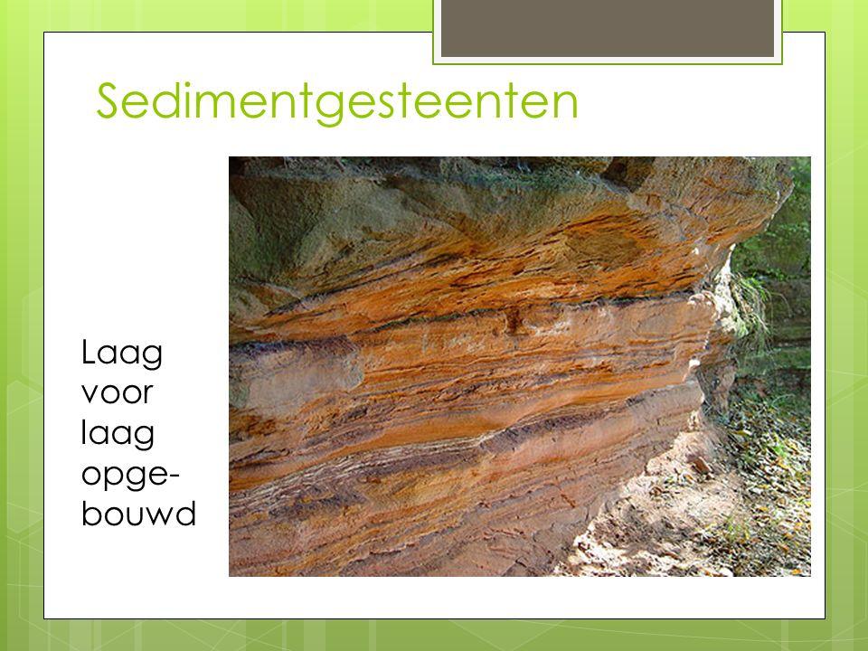 Sedimentgesteenten Laag voor laag opge- bouwd