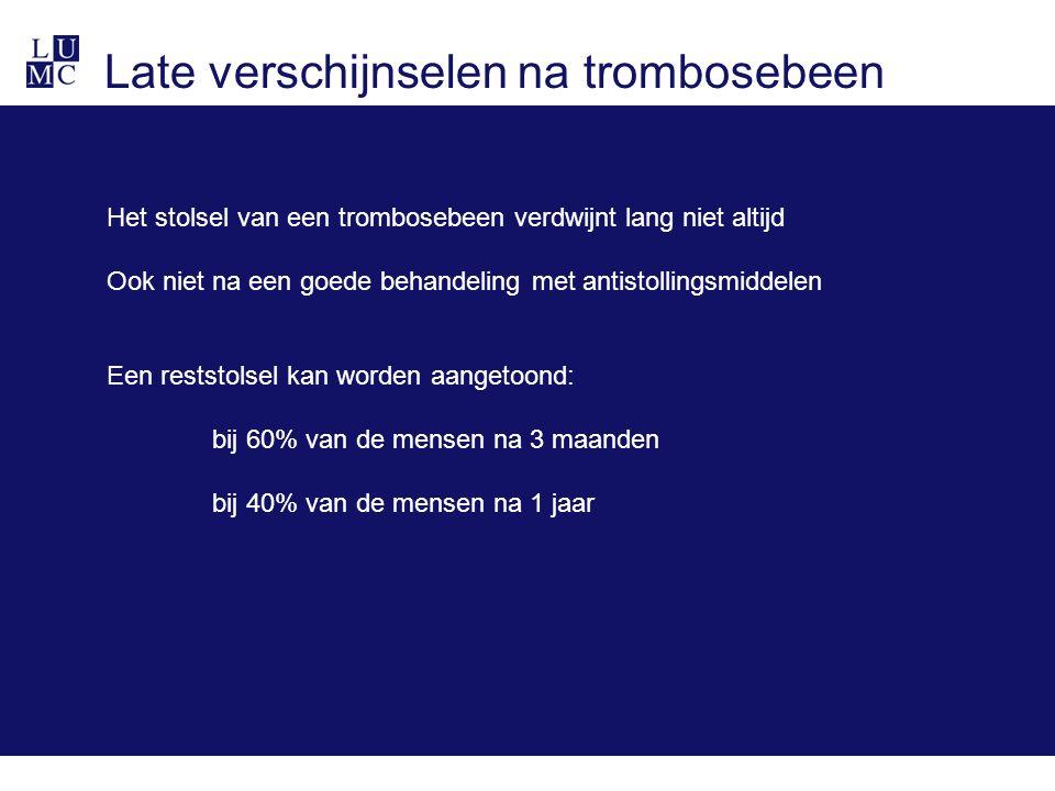Late verschijnselen na trombosebeen