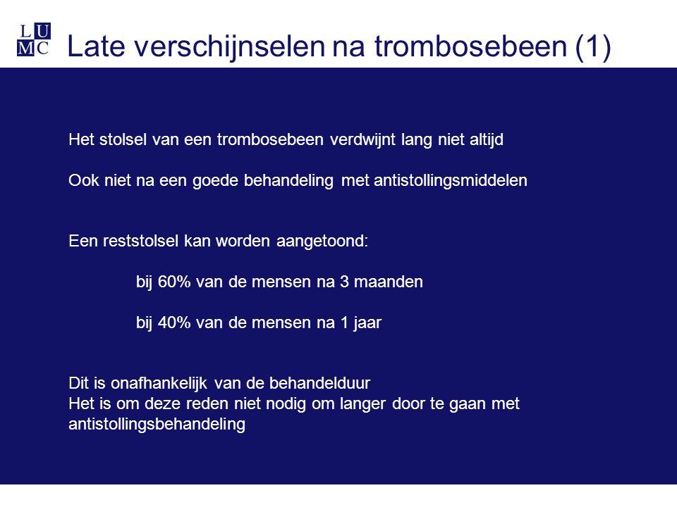 Late verschijnselen na trombosebeen (1)