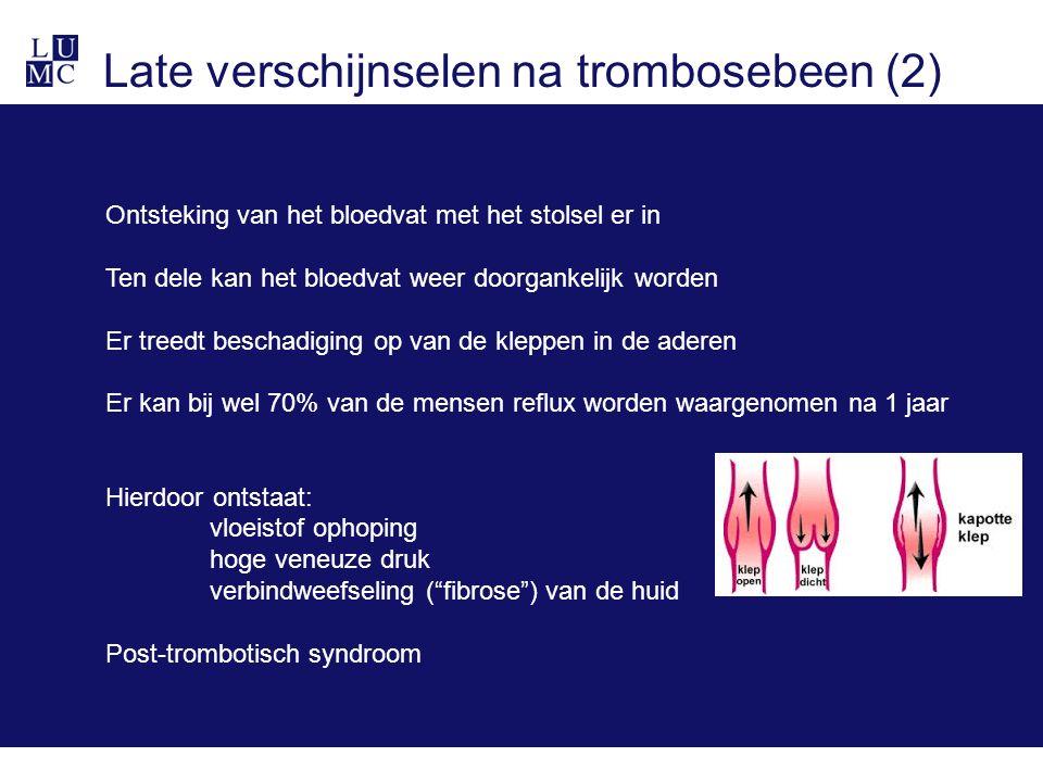 Late verschijnselen na trombosebeen (2)