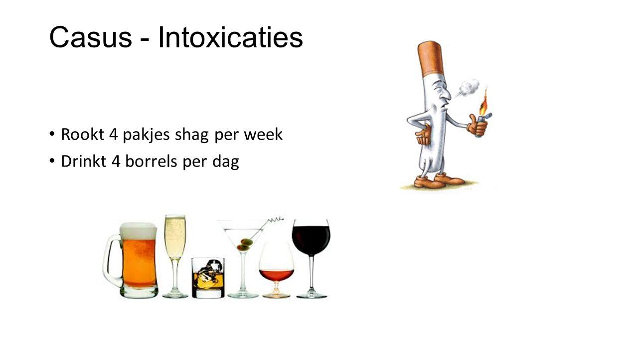 Casus - Intoxicaties Rookt 4 pakjes shag per week