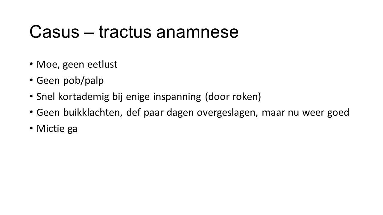 Casus – tractus anamnese