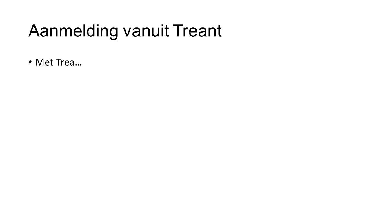 Aanmelding vanuit Treant