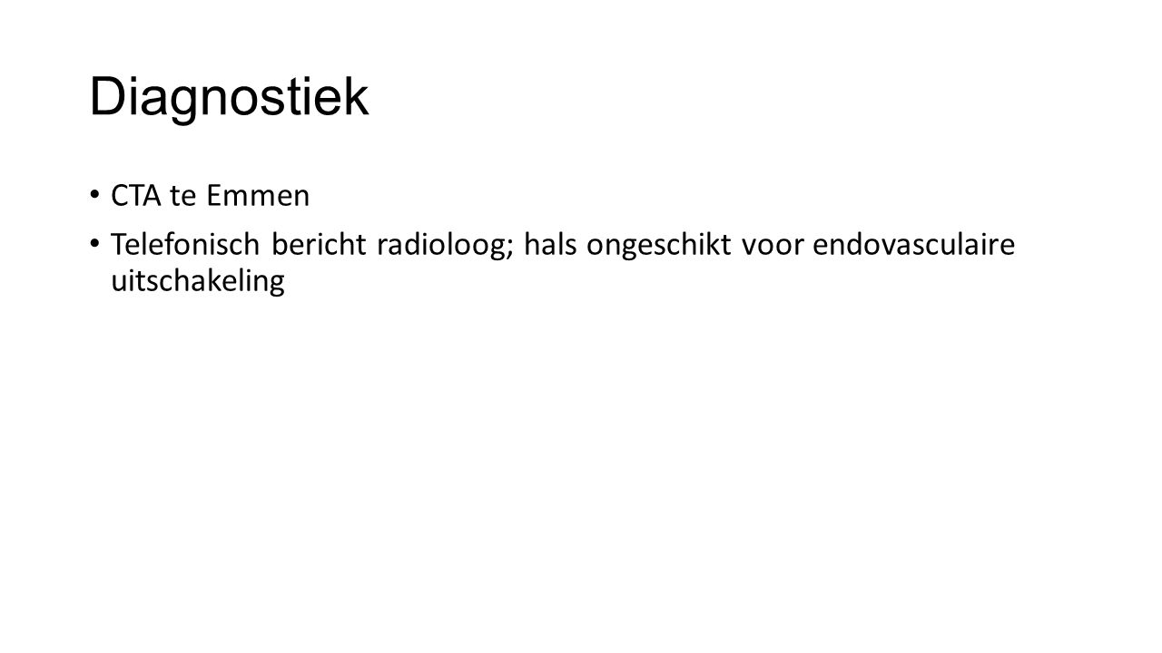 Diagnostiek CTA te Emmen