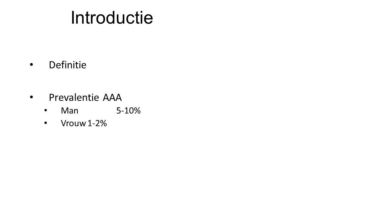Introductie Definitie Prevalentie AAA Man 5-10% Vrouw 1-2%