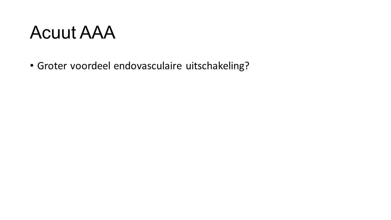 Acuut AAA Groter voordeel endovasculaire uitschakeling