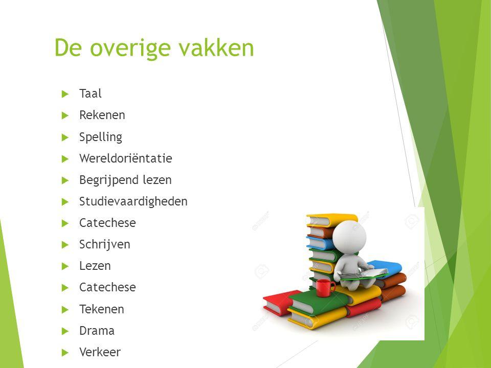De overige vakken Taal Rekenen Spelling Wereldoriëntatie