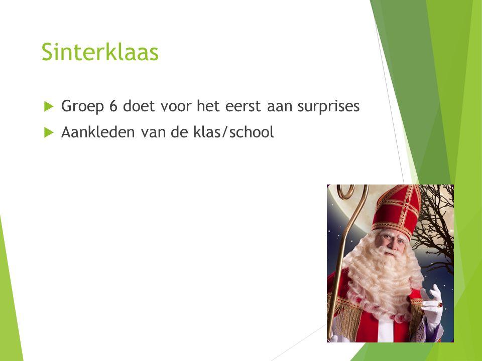Sinterklaas Groep 6 doet voor het eerst aan surprises