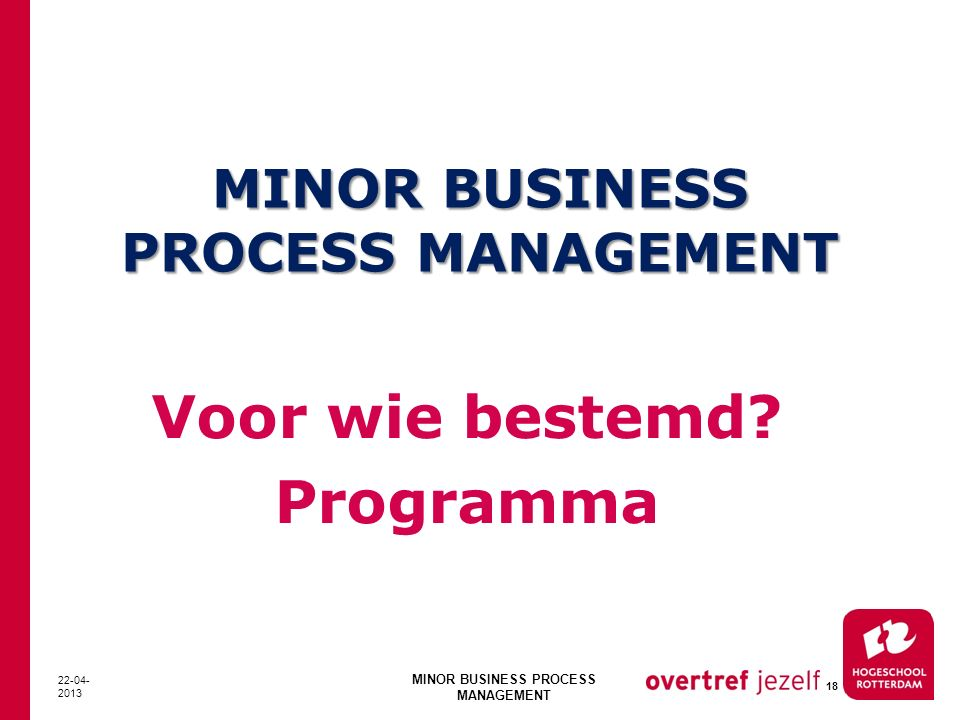 MINOR BUSINESS PROCESS MANAGEMENT
