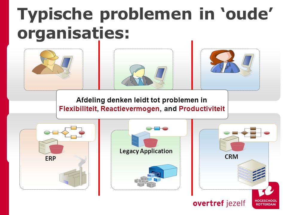 Typische problemen in 'oude' organisaties: