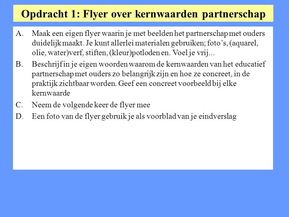 Opdracht 1: Flyer over kernwaarden partnerschap