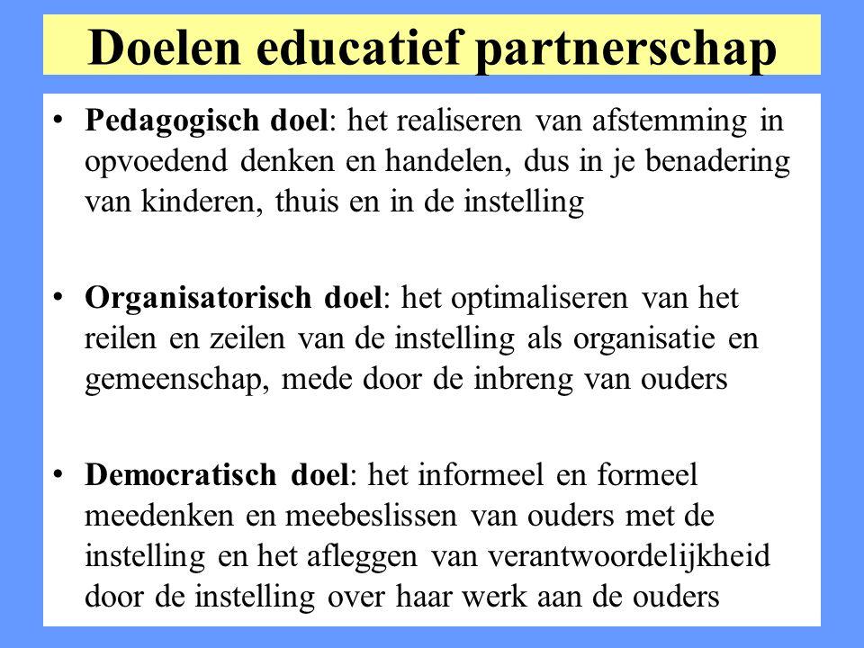 Doelen educatief partnerschap