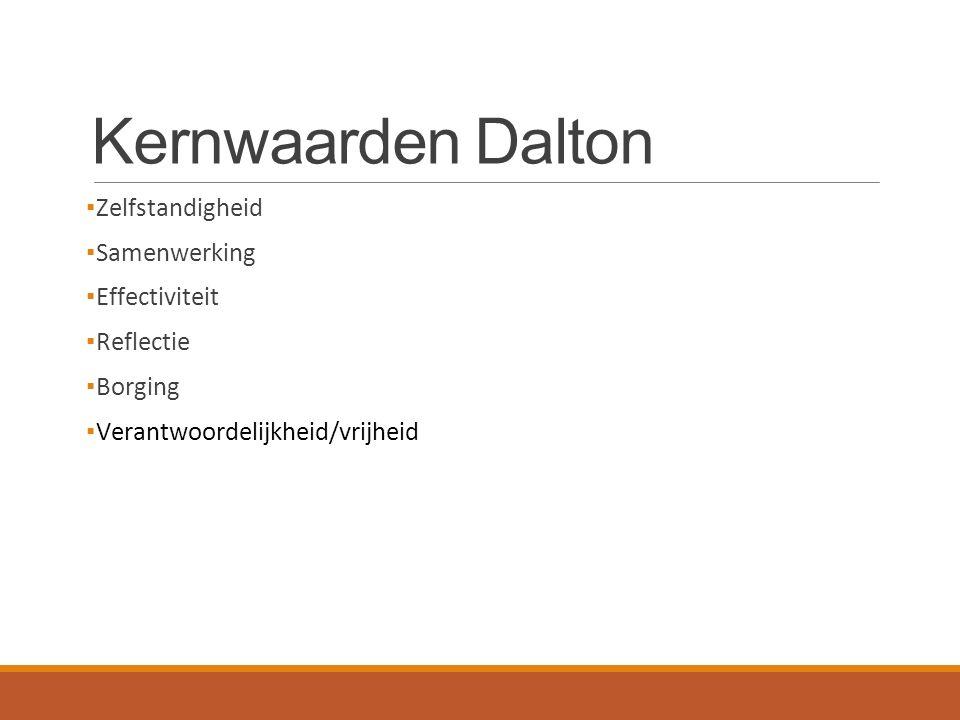 Kernwaarden Dalton Zelfstandigheid Samenwerking Effectiviteit