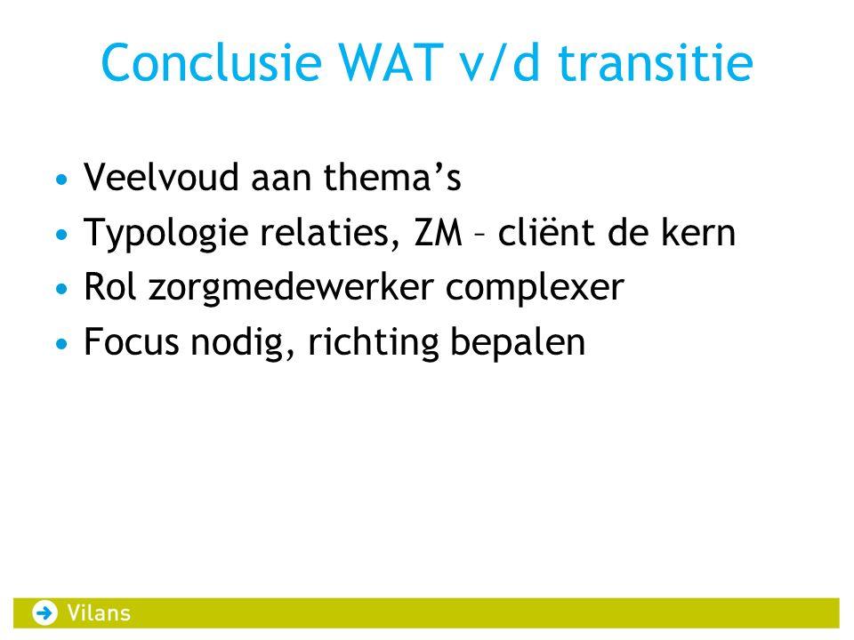 Conclusie WAT v/d transitie