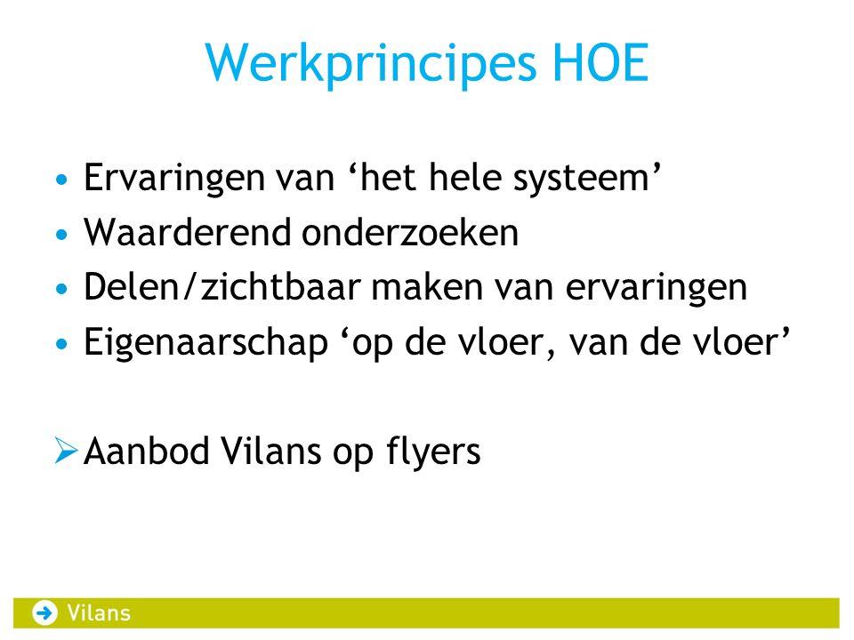 Werkprincipes HOE Ervaringen van 'het hele systeem'