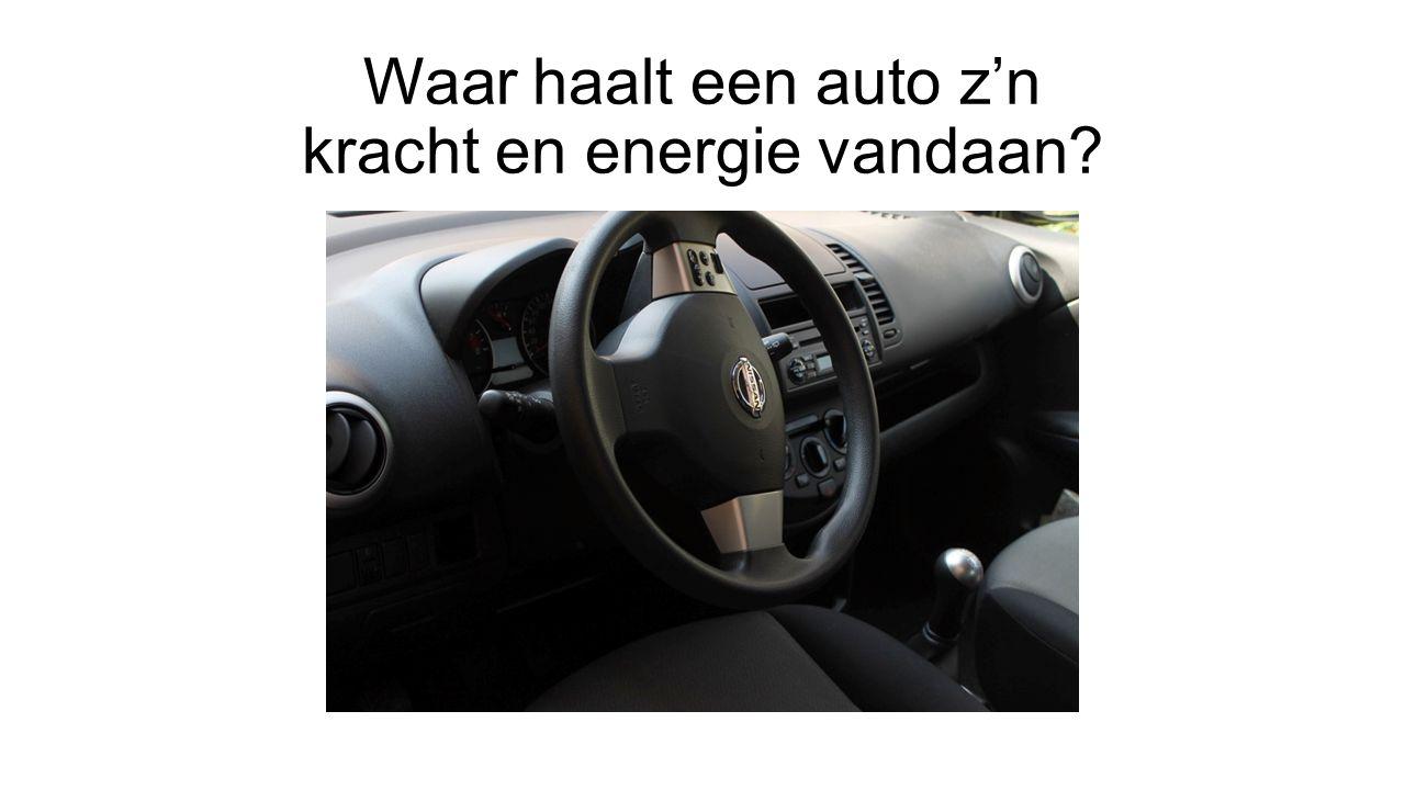 Waar haalt een auto z'n kracht en energie vandaan
