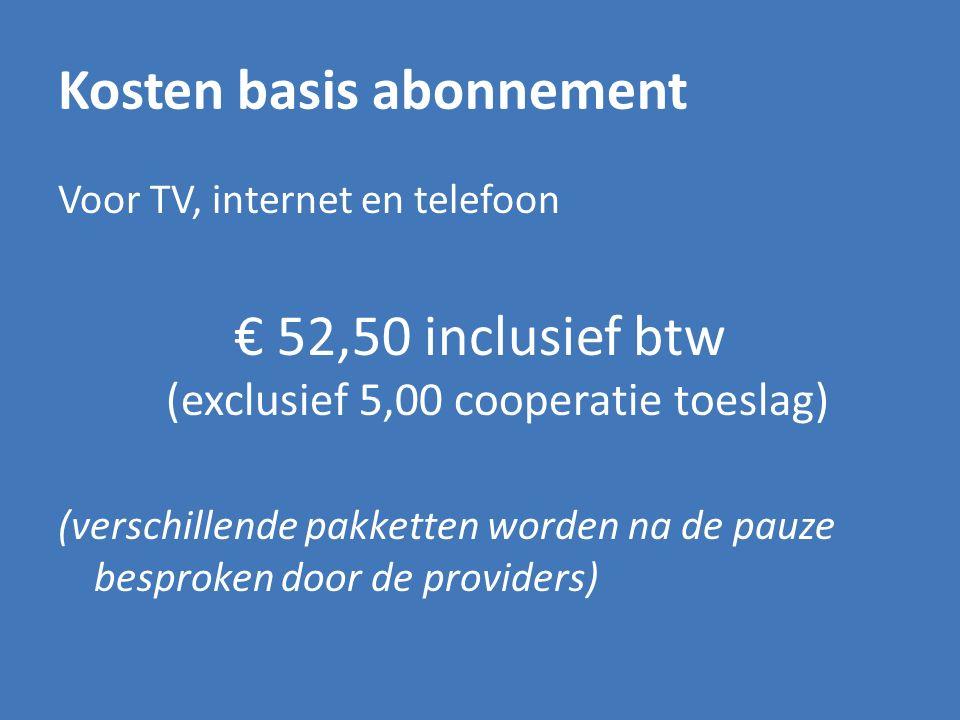 Kosten basis abonnement