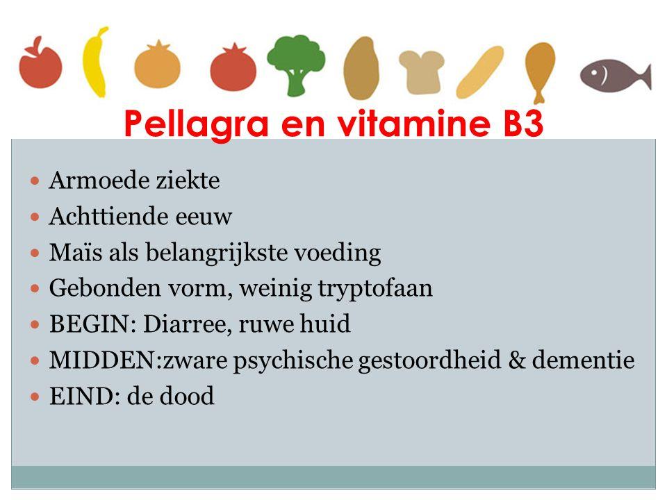 Pellagra en vitamine B3 Armoede ziekte Achttiende eeuw