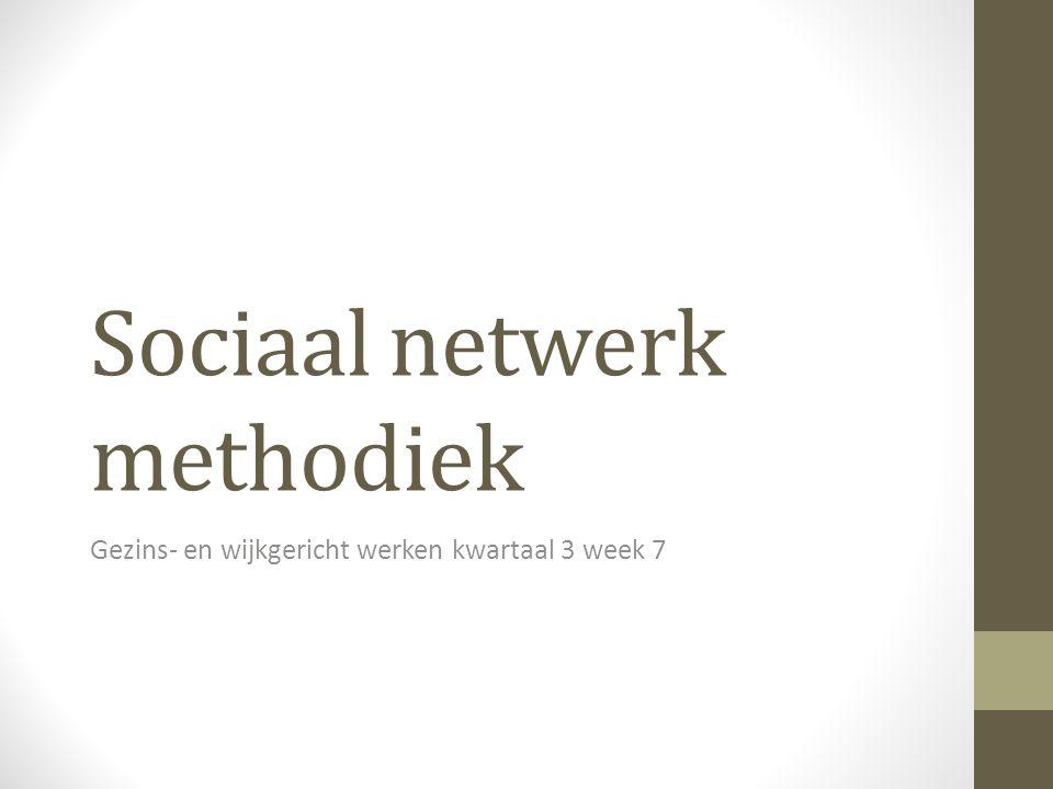 Sociaal netwerk methodiek