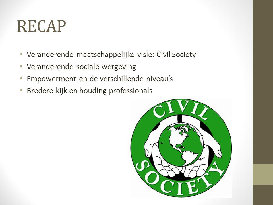 RECAP Veranderende maatschappelijke visie: Civil Society