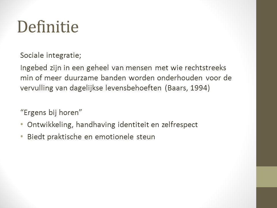Definitie Sociale integratie;