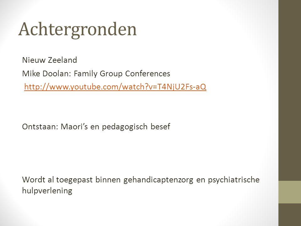Achtergronden Nieuw Zeeland Mike Doolan: Family Group Conferences