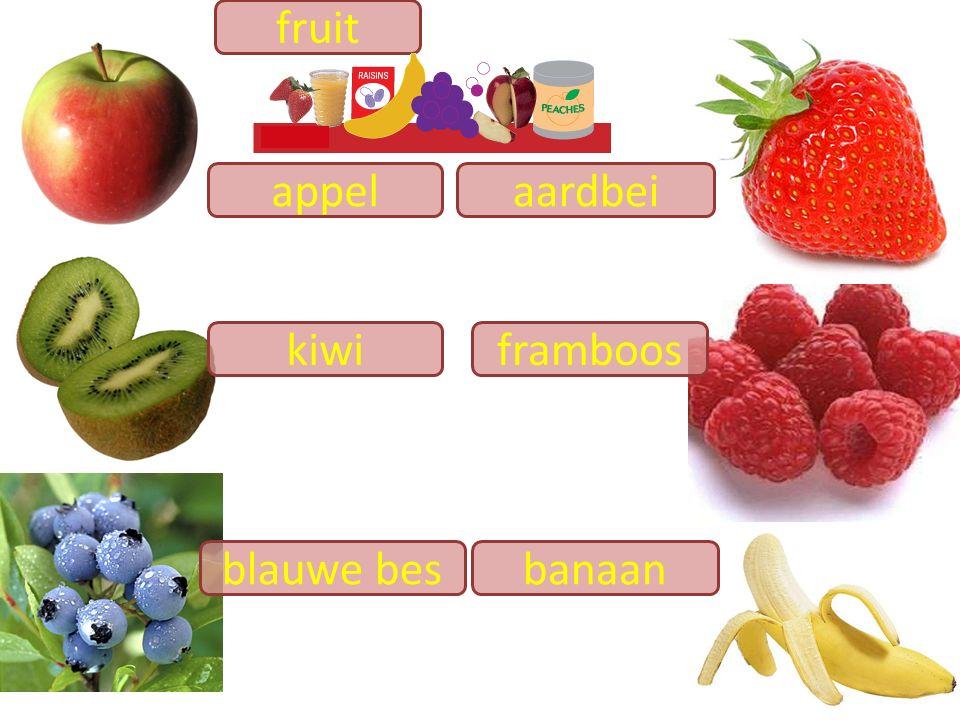 fruit appel aardbei kiwi framboos blauwe bes banaan