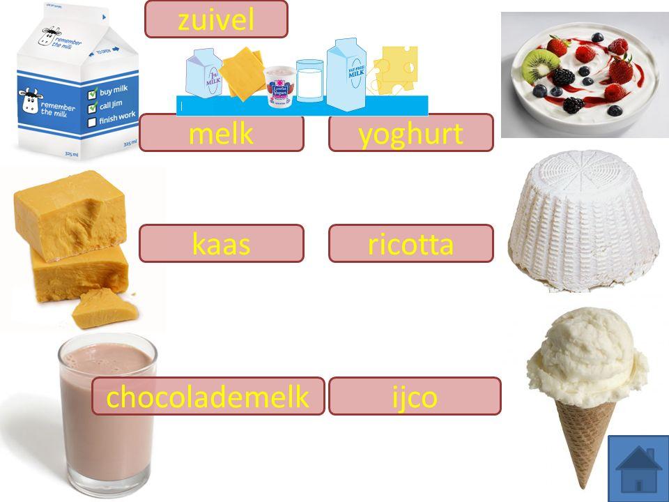 zuivel melk yoghurt kaas ricotta chocolademelk ijco