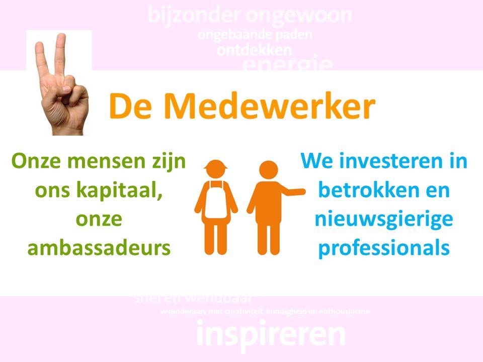 De Medewerker Onze mensen zijn ons kapitaal, onze ambassadeurs
