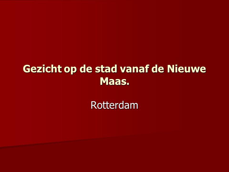 Gezicht op de stad vanaf de Nieuwe Maas.