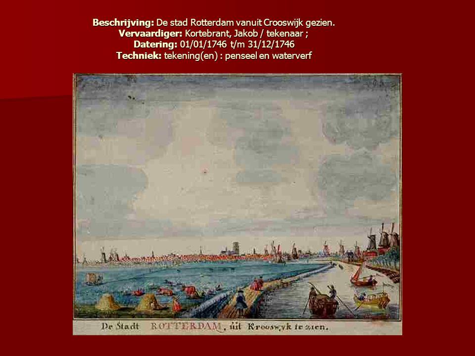 Beschrijving: De stad Rotterdam vanuit Crooswijk gezien