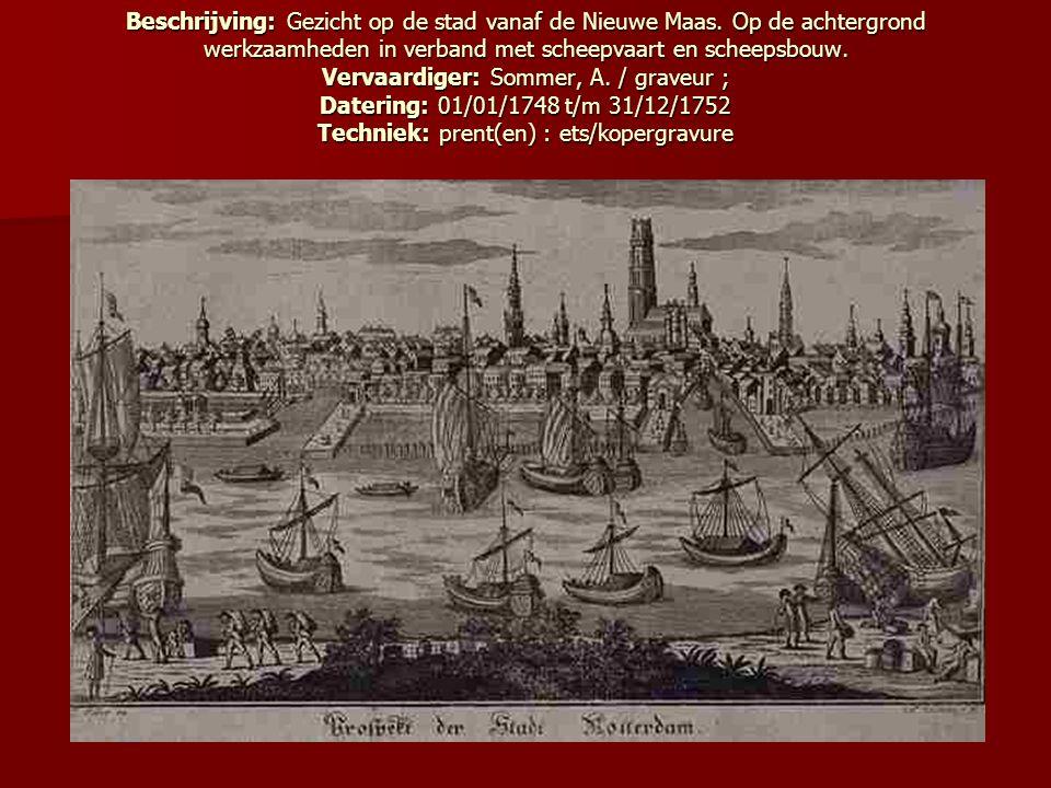 Beschrijving: Gezicht op de stad vanaf de Nieuwe Maas