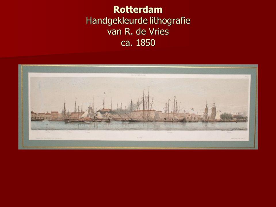 Rotterdam Handgekleurde lithografie van R. de Vries ca. 1850