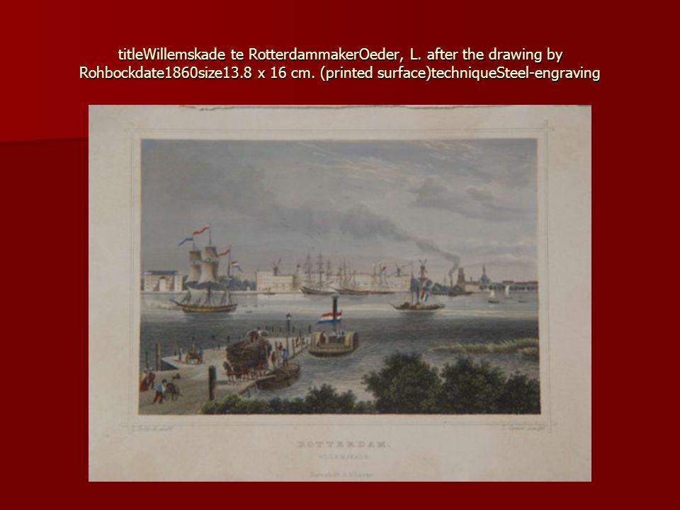 titleWillemskade te RotterdammakerOeder, L