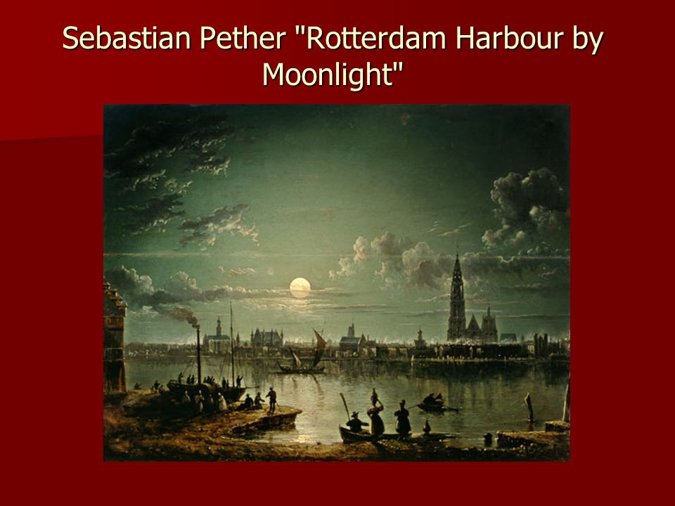 Sebastian Pether Rotterdam Harbour by Moonlight
