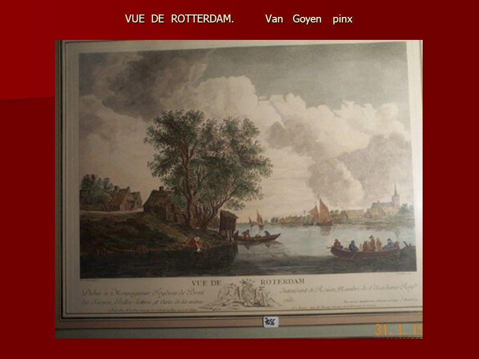 VUE DE ROTTERDAM. Van Goyen pinx