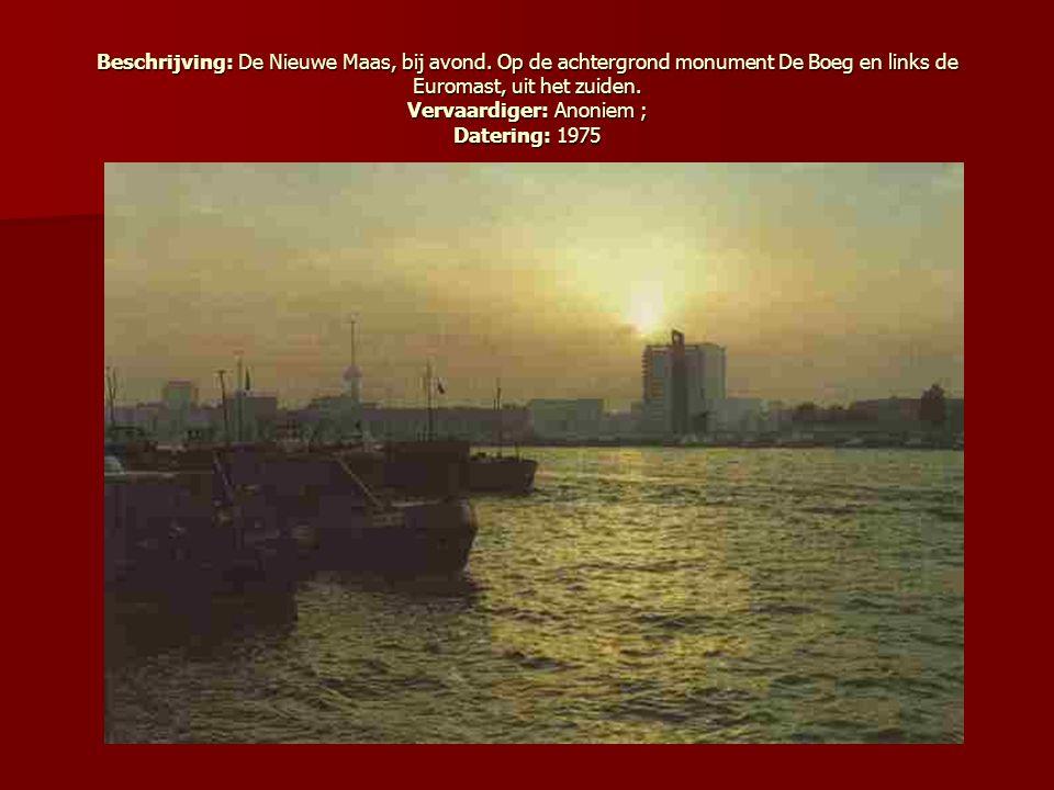Beschrijving: De Nieuwe Maas, bij avond