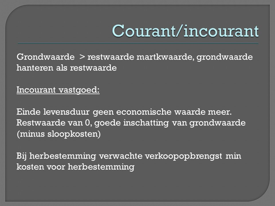 Courant/incourant