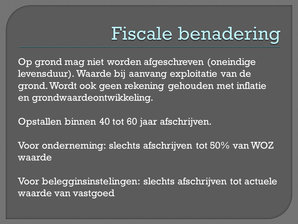 Fiscale benadering