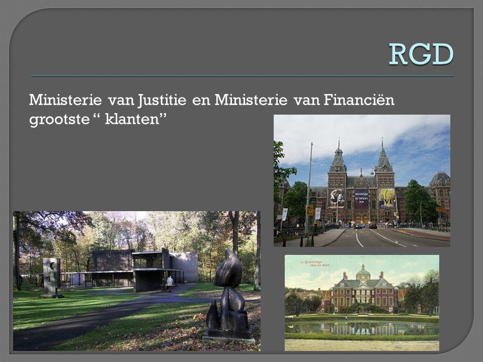 RGD Ministerie van Justitie en Ministerie van Financiën grootste klanten