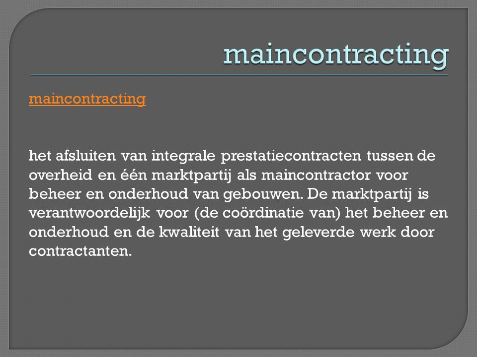 maincontracting
