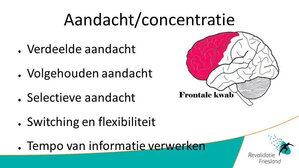 Aandacht/concentratie