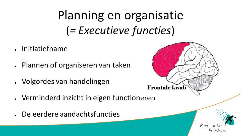 Planning en organisatie (= Executieve functies)