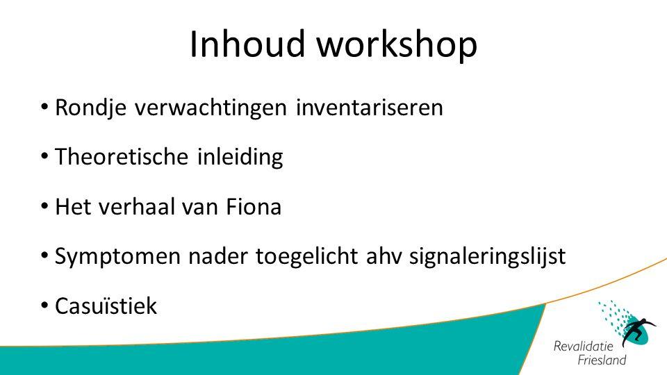Inhoud workshop Rondje verwachtingen inventariseren