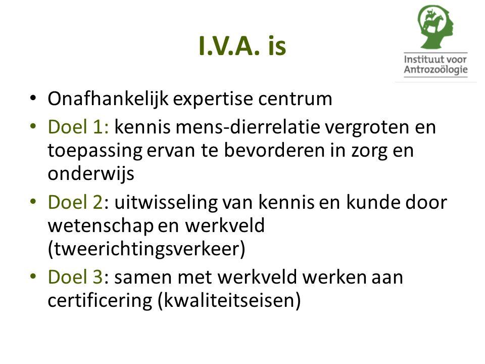 I.V.A. is Onafhankelijk expertise centrum
