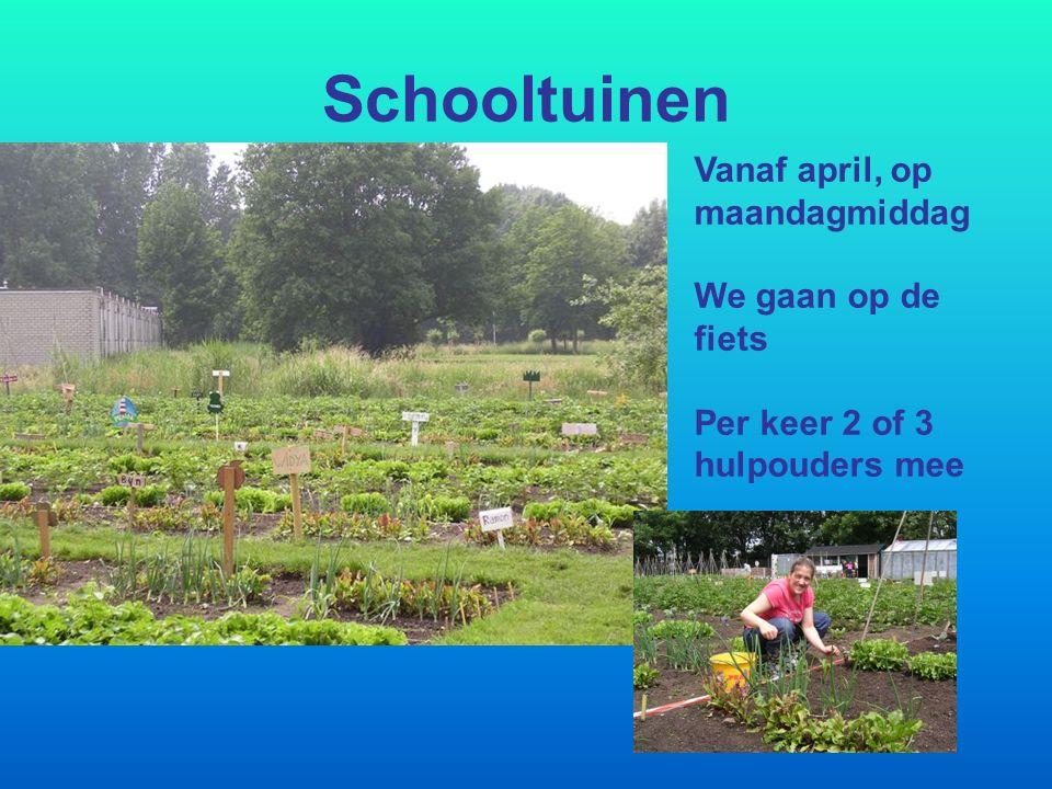 Schooltuinen Vanaf april, op maandagmiddag We gaan op de fiets