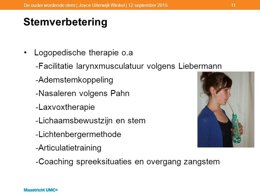 Stemverbetering Logopedische therapie o.a