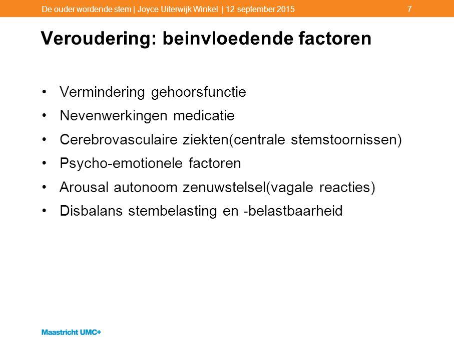Veroudering: beinvloedende factoren